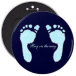Baby Footprints (Boy) Pinback Buttons
