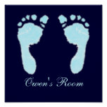Baby Footprints (Boy) Posters