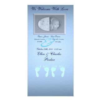 Baby Footprints (Boy Twins) Card