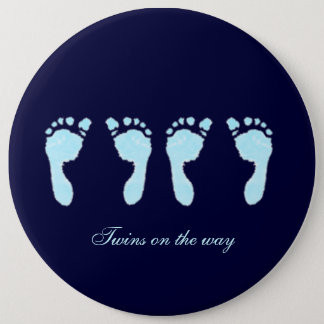 Baby Footprints (Boy Twins) Pinback Button