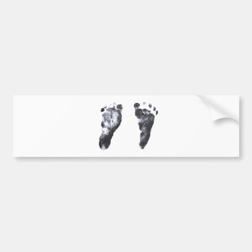 Baby Footprints Car Bumper Sticker