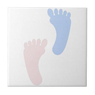 Baby Footprints Ceramic Tile