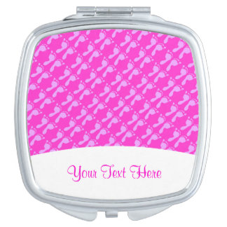 Baby Footprints (Girl) Compact Mirror