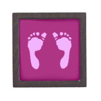 Baby Footprints (Girl) Jewelry Box