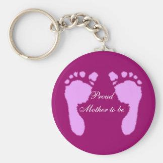 Baby Footprints (Girl) Keychain