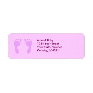 Baby Footprints (Girl) Label
