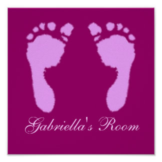 Baby Footprints (Girl) Poster