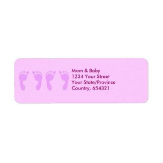 Baby Footprints (Girl Twins) Label