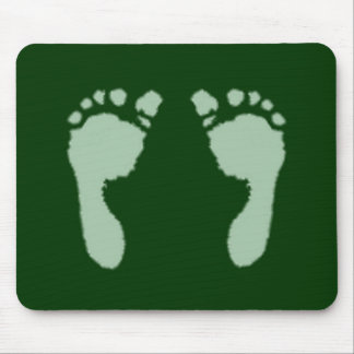 Baby Footprints (Green) Mouse Pad