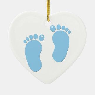 Baby footprints. It's a Boy Ceramic Ornament