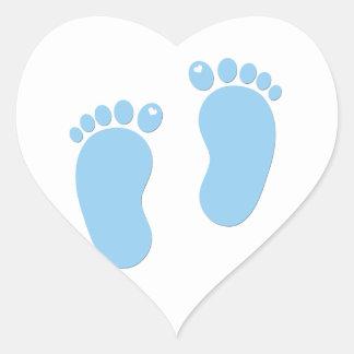 Baby footprints. It's a Boy Heart Sticker