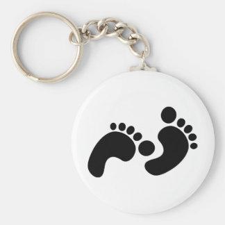 baby footprints keychain