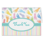 Baby Footprints Thank You Note Card