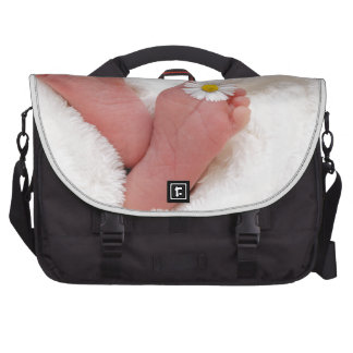 baby footprints toes cute newborn infant tiny new bag for laptop