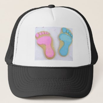Baby Footprints Trucker Hat by creativeconceptss at Zazzle