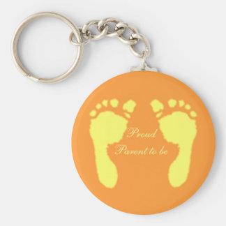 Baby Footprints (Yellow) Keychain