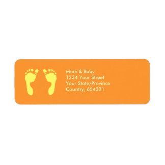 Baby Footprints (Yellow) Label