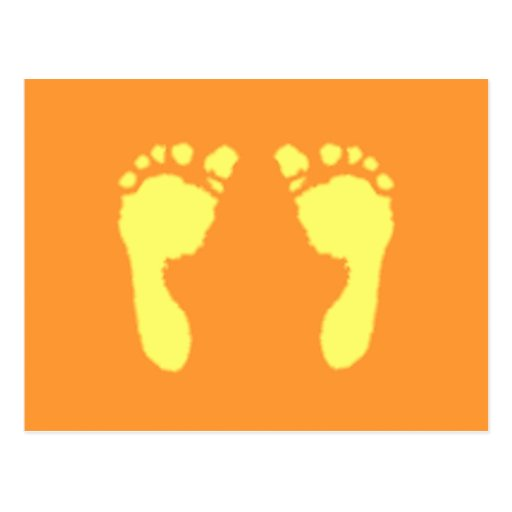 Baby Footprints (Yellow) Postcard