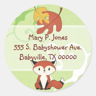 Baby Fox Address Label Stickers