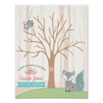 Baby Fox Baby Shower Thumbprint Guestbook