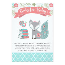 Baby Fox Books for Baby Book Request Insert Invitation
