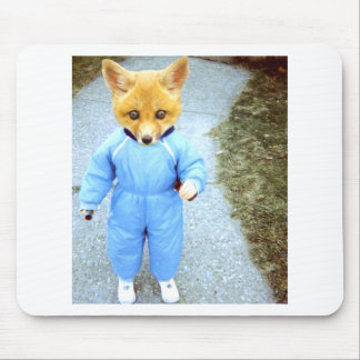 Baby fox mouse pad