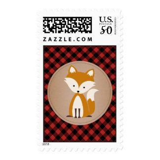 Baby Fox Plaid Postage
