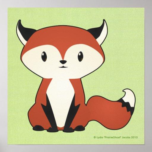 Baby Fox Print Zazzle