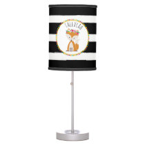 Baby Fox Stripe Personalized Lamp