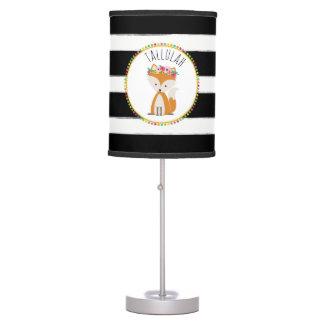 Baby Fox Stripe Personalized Lamp