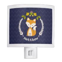 Baby Fox Wreath Personalized Night Light - Boy