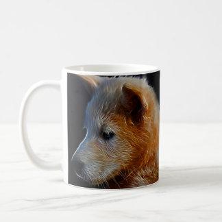Baby fractal wolf cub coffee mug