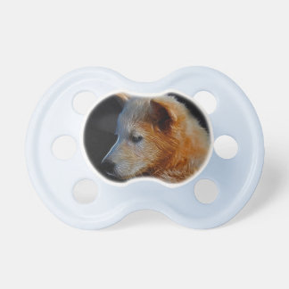 Baby fractal wolf cub baby pacifiers