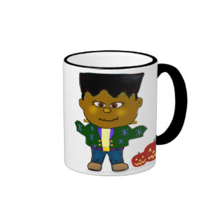 Baby Frankenstein Halloween Gifts Ringer Coffee Mug