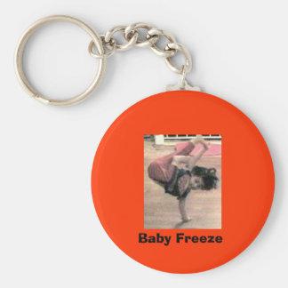 Baby Freeze Basic Round Button Keychain