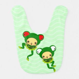 baby frogs bibs