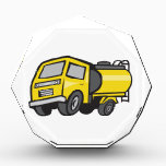 """Baby Fuel Tanker Cartoon Award<br><div class=""""desc"""">Illustration of a baby tanker or 4 wheel midi fuel tanker viewed from front set on isolated white background done in cartoon style.</div>"""