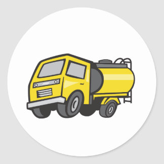 Baby Fuel Tanker Cartoon Classic Round Sticker