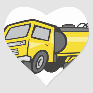 Baby Fuel Tanker Cartoon Heart Sticker