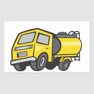 Baby Fuel Tanker Cartoon Rectangular Sticker