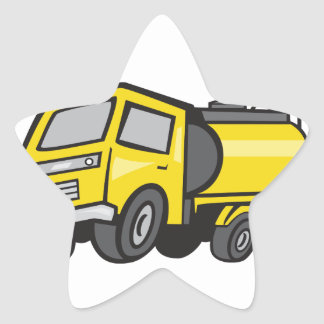 Baby Fuel Tanker Cartoon Star Sticker