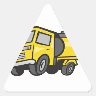 Baby Fuel Tanker Cartoon Triangle Sticker