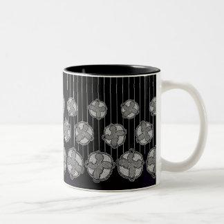 Baby Fun Footprint Pattern Black White Two-Tone Coffee Mug