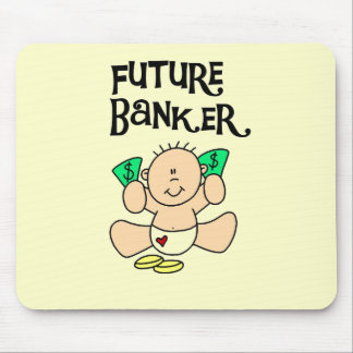 Baby Future Banker T-shirts and Gifts Mouse Pad