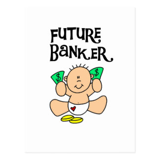 Baby Future Banker T-shirts and Gifts Postcard