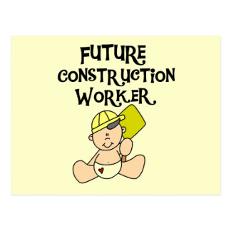 Baby Future Construction Worker Tshirts and Gifts Postcard