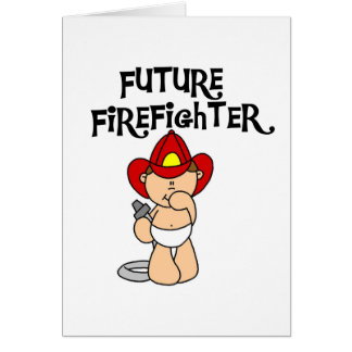 Baby Future Firefighter Tshirts and Gifts Card