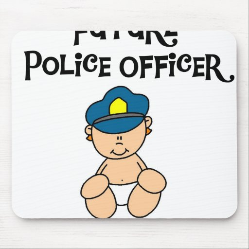 Baby Future Police Officer Mouse Pad