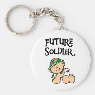 Baby Future Soldier Basic Round Button Keychain