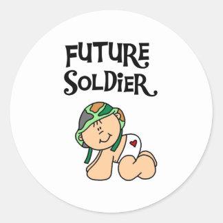 Baby Future Soldier Classic Round Sticker